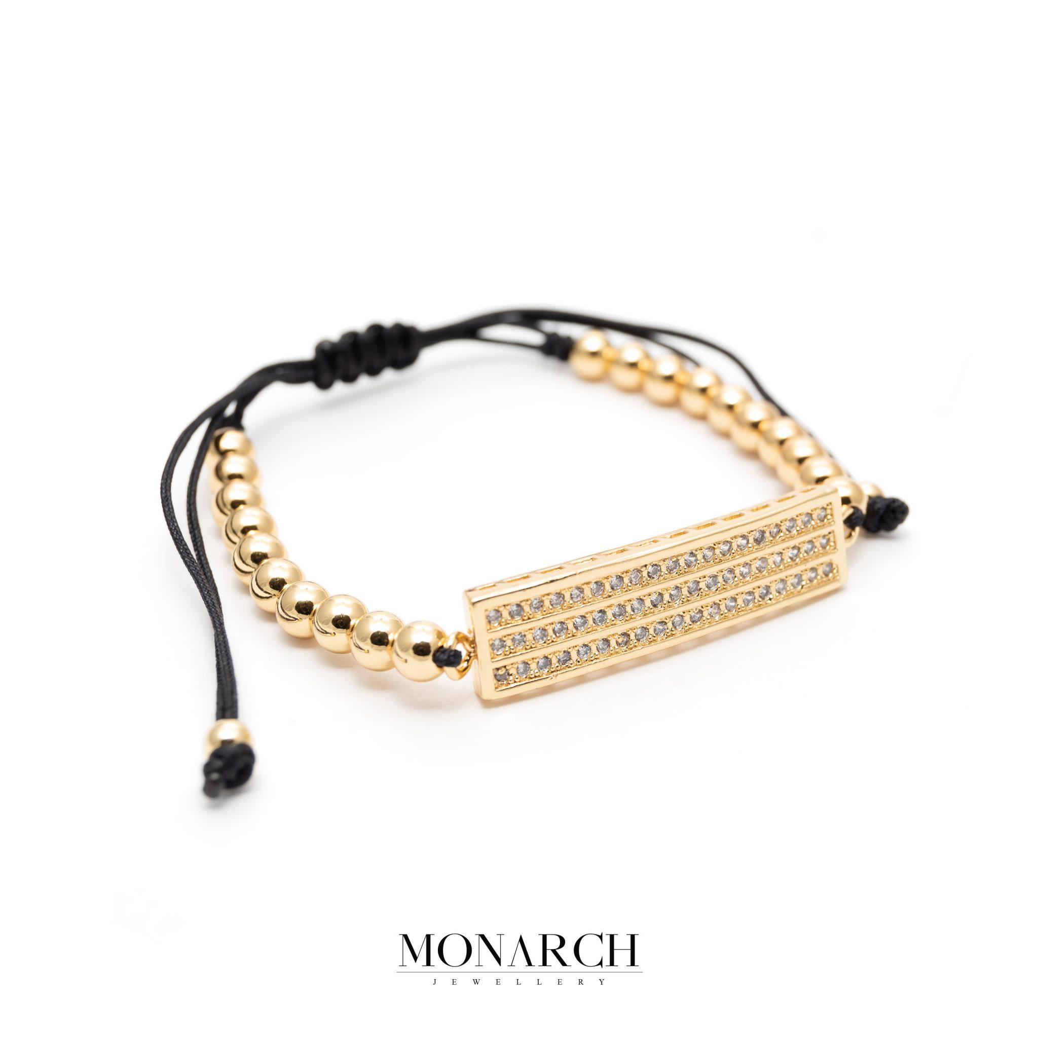 Gold luxury bracelet for man, monarch jewellery MA171GQB