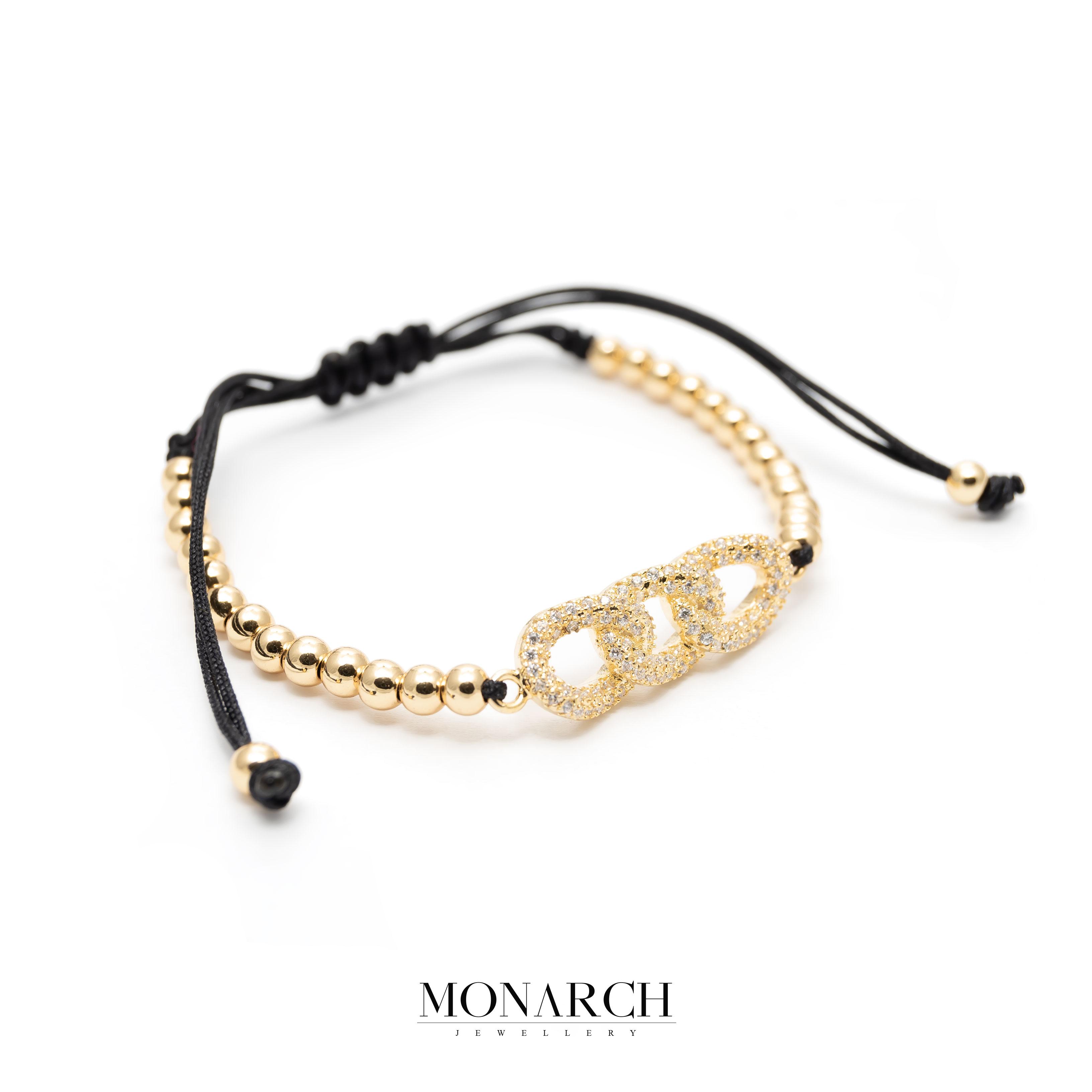 Gold luxury bracelet for man, monarch jewellery MA172GTB