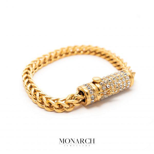 gold luxury bracelet for man, monarch jewellery MA176GT