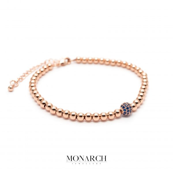 gold rose luxury bracelet for man, monarch jewellery MA189GR