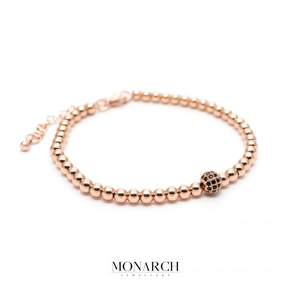 gold rose luxury bracelet for man, monarch jewellery MA190GS
