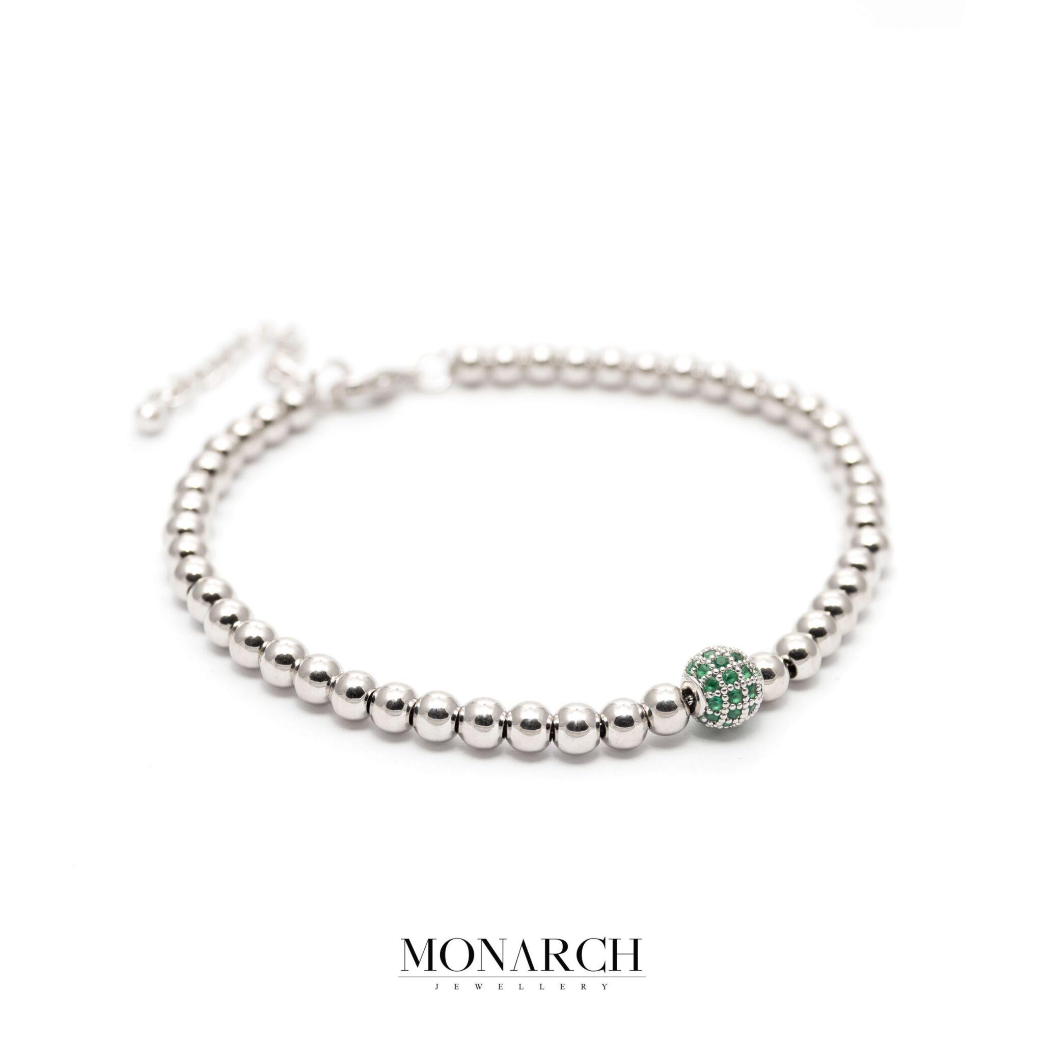 silver luxury bracelet for man, monarch jewellery MA185SE