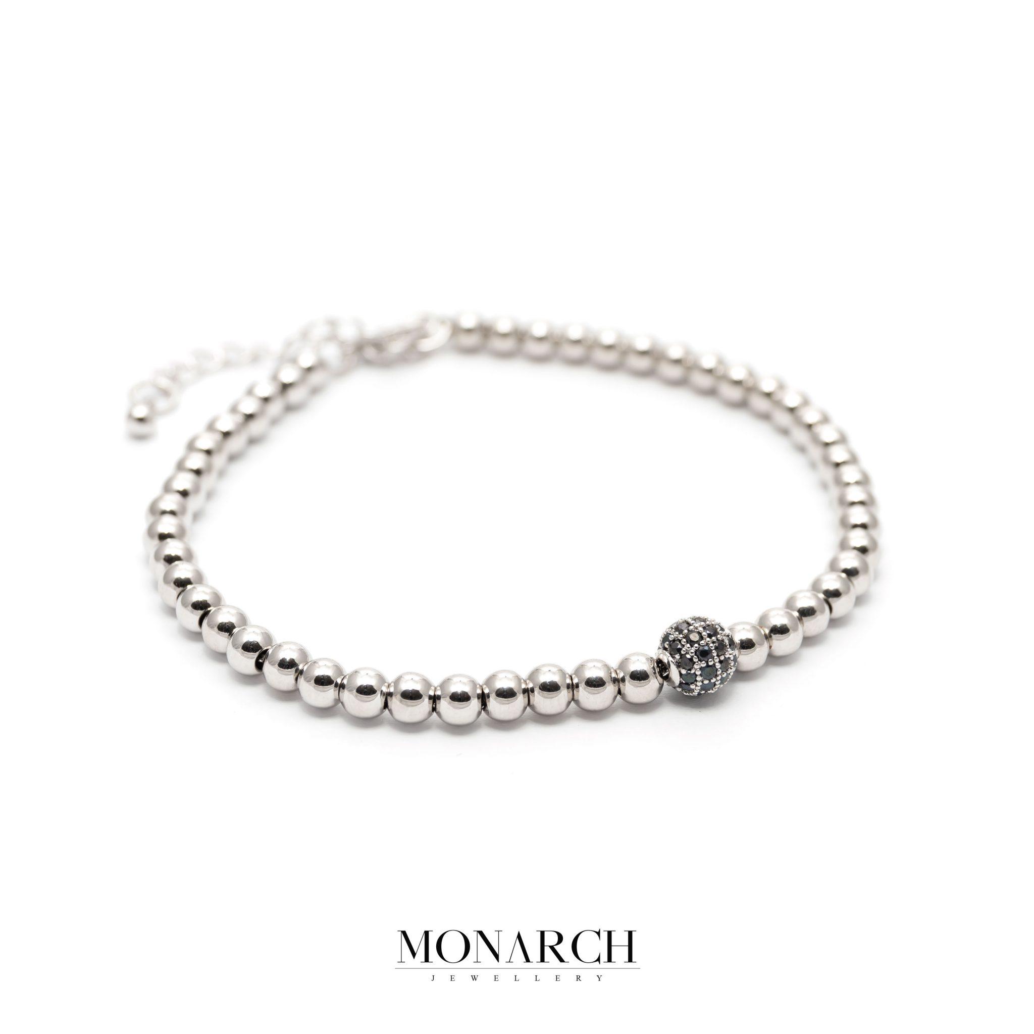 silver luxury bracelet for man, monarch jewellery MA186SB