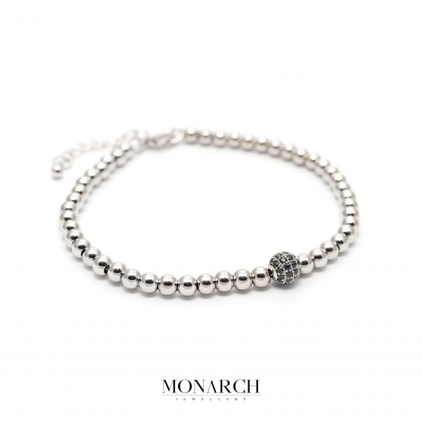 silver luxury bracelet for man, monarch jewellery MA186SB