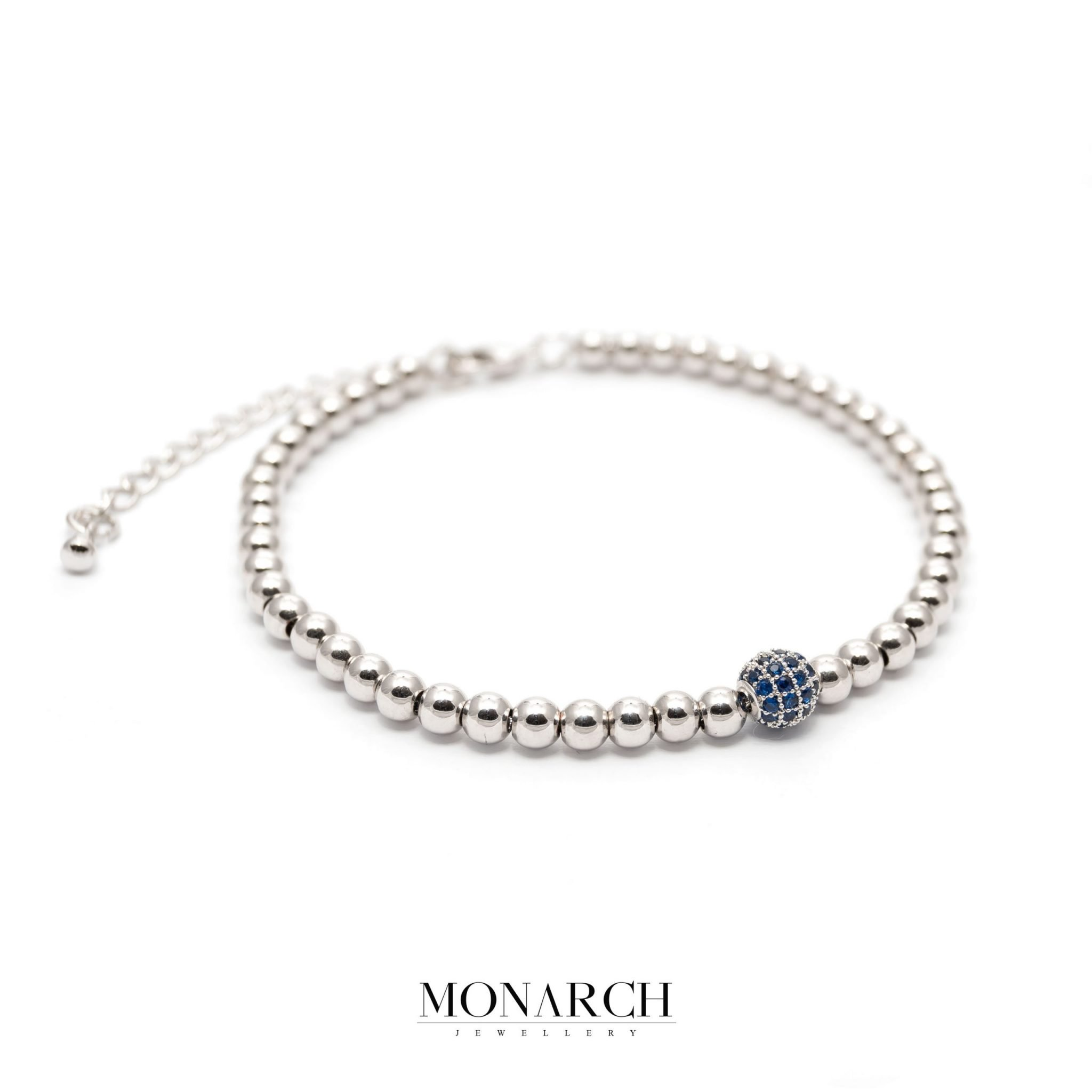 silver luxury bracelet for man, monarch jewellery MA187SA